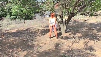 Mom Called Her Stepson To Nature And Did A Blowjob And Anal