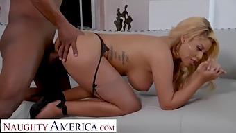 Naughty America Bridgette B. Fucks Husband'S Bully To Forgive Debt
