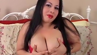 Beautiful Big Tits Brunette Bbw Loves Fucking Her Fat Juicy Pussy For You