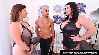 Curvy Cuban Angelina Castro & Bbc Get Sara Jay To Submit!