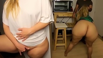 I Found My Sister And Her Boyfriend Fucking In The Kitchen (I Touch My Self Meanwhile)
